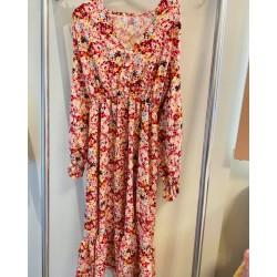long dress flower pink